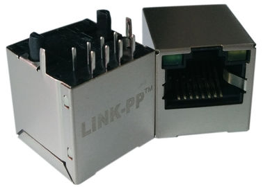 LPJD4012BENL, Dikey RJ45 Jack, 1CT: 1CT, 8P8C 10 / 100Mbps, Kalkan LED G-Y