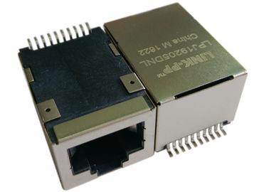 LPJ19205DNL SMT POE RJ45 Jack, 1x 10 / 100Mbps IEEE 802.3af Ethernet üzerinden Güç