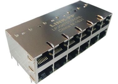 LED IEE802.3at ile LPJG67011AGNL 2x6 POE RJ45 Konnektör 1000Base-T