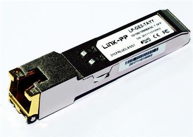 Rj45 Bakır SFP 10/100/1000 BASE-T SGMII -40 ° C ila + 85 ° C Endüstriyel Sıc 1.25 Gigabit Ethernet